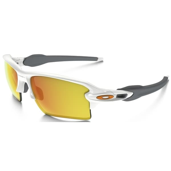 97e36b81d2 Shop Oakley Flak 2.0 XL Non-Polarized Iridium Rectangular Polished White  Mens Sunglasses - OO9188-918819 - Free Shipping Today - Overstock.com -  17372900