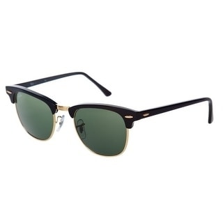 Ray-Ban Clubmaster RB3016 W0365 49-21 in black / green eAE9BF7