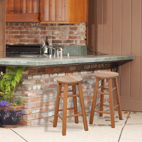 Ormond Outdoor Hardwood Promo Arch Bar Stool, Set of 2 by Havenside Home