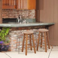 Havenside Home Ormond Outdoor Hardwood Promo Arch Bar Stool, Set of 2