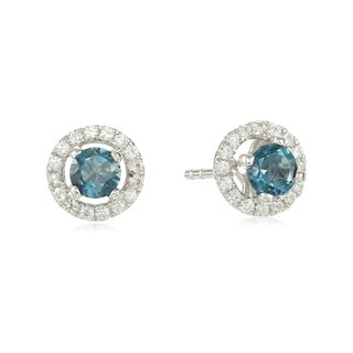 Sterling Silver in your choice of gemstone Stud Earrings