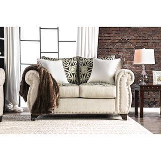 Daeler Transitional Nailhead Loveseat by FOA