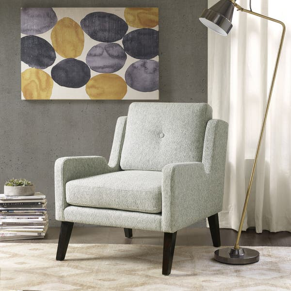 Sensational Shop Ink Ivy Margot Grey Wood Accent Chair Free Shipping Caraccident5 Cool Chair Designs And Ideas Caraccident5Info