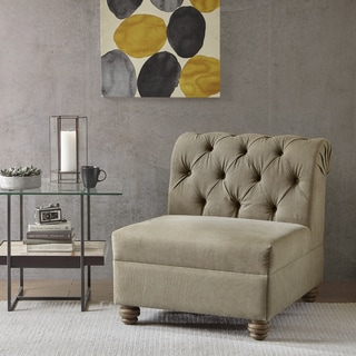 Ink+Ivy Jeaninne Tan Button-tufted Accent Chair