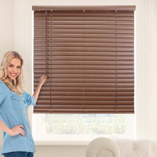 Chicology English Chestnut Cordless 2-Inch Vinyl Variable Light Control Mini Blinds