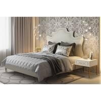 Serenity Cream Velvet Bed