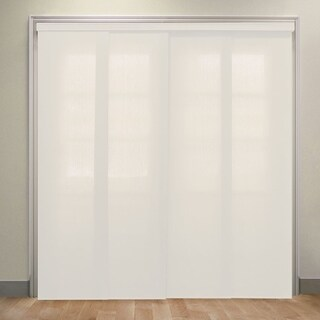 """Chicology Allure Powder Deluxe Adjustable Cut to Length Light Filtering Privacy Sliding Panels - 80""""w x 96""""h"""