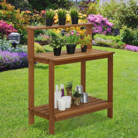Ormond Outdoor Hardwood Potting Bench by Havenside Home