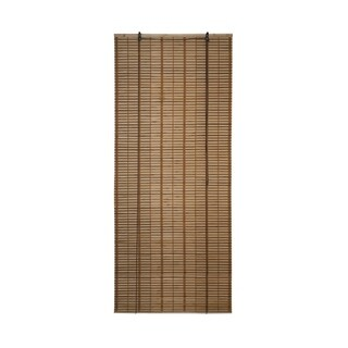 ALEKO 32X72 Inches Brown Midollino Wooden Roll Up Blinds