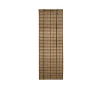 ALEKO Brown Midollino Wooden Roll Up Blinds Light Filtering