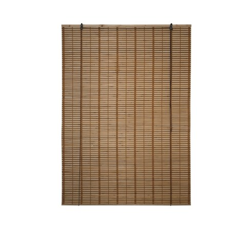 ALEKO 46X64 Inches Brown Midollino Wooden Roll Up Blinds