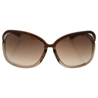 Tom Ford TF76 Raquel 38F Womens Transparent Bronze 63 mm Sunglasses - transparent bronze