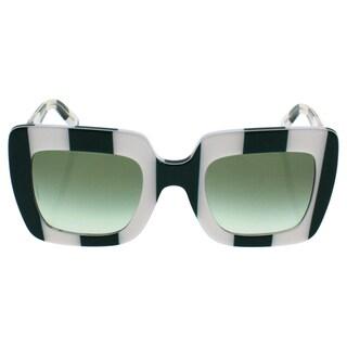 Dolce & Gabbana DG 4263 3026/8E Women's Stripe Green White Frame Green Gradient Lens Sunglasses