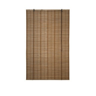 ALEKO 39X64 Inches Brown Midollino Wooden Roll Up Blinds