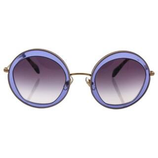 Miu Miu MU 50Q TIF-4W1 Women's Light Violet Gold Frame Violet Gradient Lens Sunglasses