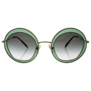 Miu Miu MU 50Q TWN-1E0 - Women's Transparent Green/Green Gradient Sunglasses
