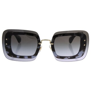 Miu Miu MU SMU 02R UAH-3H0 - Women's Grey Black Tortoise/Grey Gradient Sunglasses