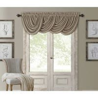 Elrene All Seasons Polyester Blend Waterfall Valance in Taupe (As Is Item)