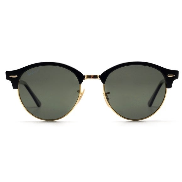 2ce5d9960ba Shop Ray-Ban Clubround Black Sunglasses RB4246-901 58-51 - Free ...