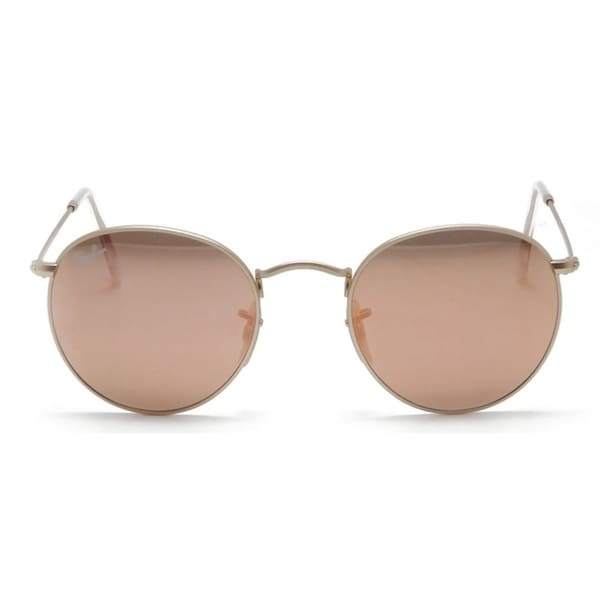 15090b0a50c13 ... low cost ray ban round flash lenses gold sunglasses rb3447 112 z2 50  bb33e c069e
