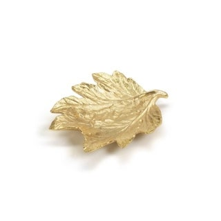Decorative Dish Holiday Accent, Maple Leaf Shaped, Gold (Set of 4)