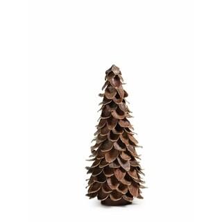 "17"" Tall Mahogany Leaf Cone Christmas Tree"