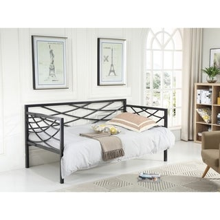 Hodedah Metal Cross-back Contemporary Daybed