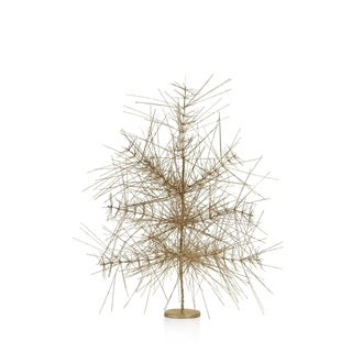 Standing Twig Christmas Tree, Gold (Set of 4)