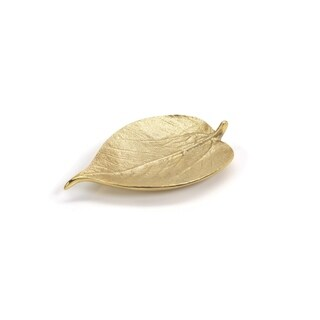 Decorative Dish Holiday Accent, Mulberry Leaf Shaped, Gold (Set of 4)