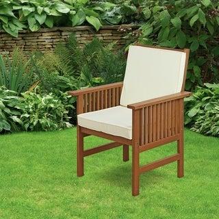 Furinno Tioman Outdoor Hardwood Mediterranean Armchair With Cushion
