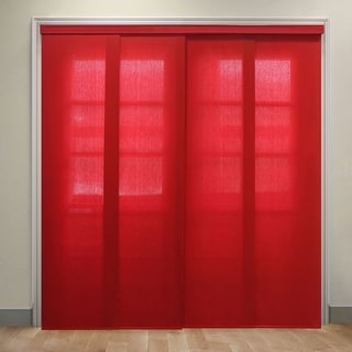 Chicology Deluxe Adjustable Sliding Panels / Cut to Length, Curtain Drape Vertical Blind Light Filtering Privacy- Allure Crimson