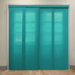 "Chicology Allure Ultramarine Deluxe Adjustable Cut to Length Light Filtering Privacy Sliding Panels - 80""w x 96""h"