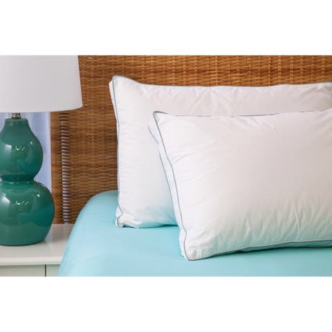 Cozy Classics Cool Sleep Down Alternative Gusseted Cotton Pillow - White