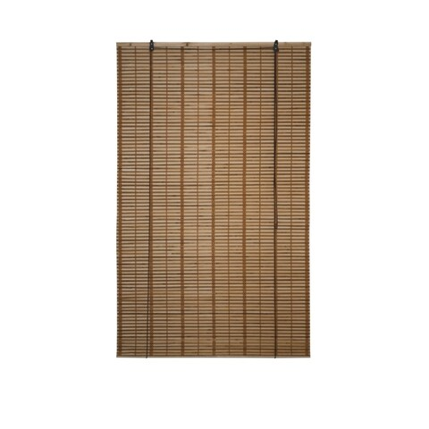 ALEKO 36X64 Inches Brown Midollino Wooden Roll Up Blinds