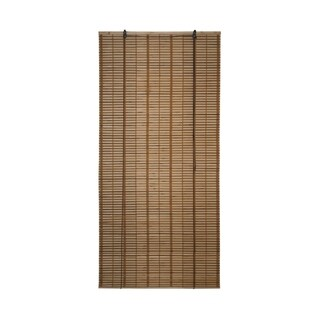 ALEKO 36X72 Inches Brown Midollino Wooden Roll Up Blinds
