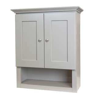 Grey Shaker Bathroom Wall Cabinet Free Shipping Today