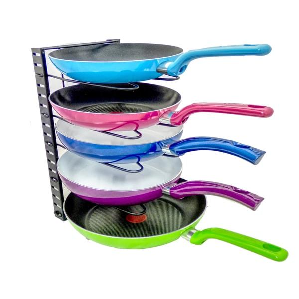 Adjustable Pot, Lid and Pan Organizer