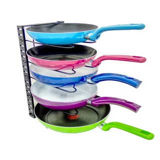Adjustable Pot, Lid and Pan Organizer