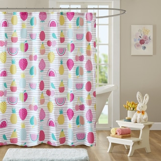 Urban Habitat Kids Water Melly Red/ Yellow Cotton Printed Shower Curtain