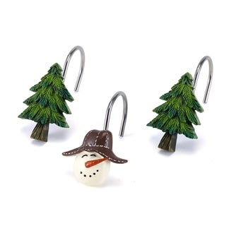 Snowmen Gathering Shower Hooks