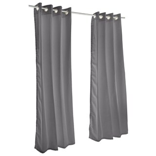 Pawleys Island Sunbrella Curtain -  Canvas Charcoal