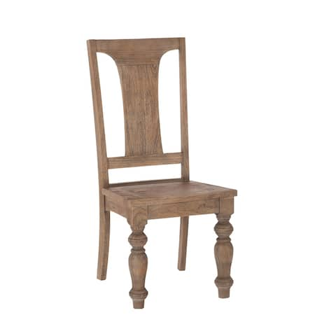 Copper Grove Ablar Reclaimed Weathered Teak Armless Dining Chairs (Set of 2)