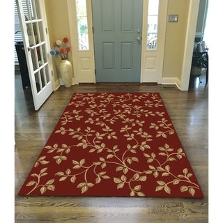 Virginia Floral Red Area Rug (7'9 x 11') - 7'9 x 11
