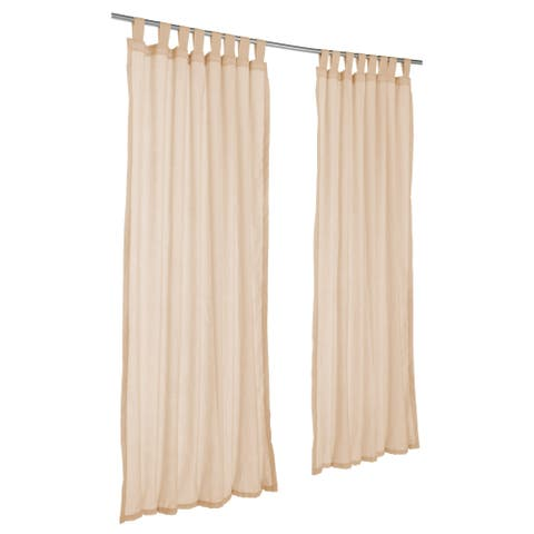 Pawleys Island Sunbrella Curtain - Sheer Honey