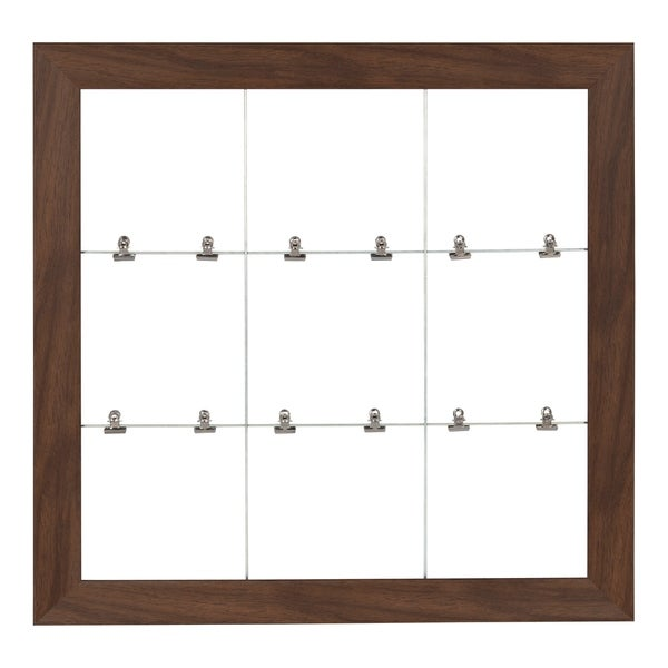 DesignOvation Beatrice Framed Metal Wire Clip Photo Collage Wall Organizer