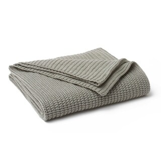 Vellux Chunky Knit Platinum/Silver Throw
