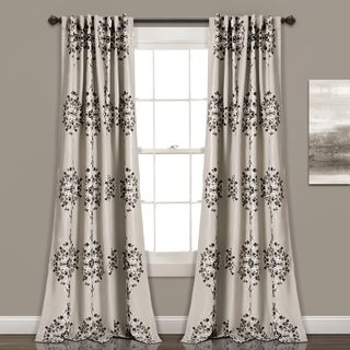 Lush Decor Keya Medallion Room Darkening Window Curtain Panel Set