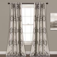 Lush Decor Keya Medallion Room Darkening Window Curtain Panel Set