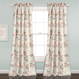 "Lush Decor Pixie Fox Room Darkening Window Curtain Panel Set - 52""W x 84""L"