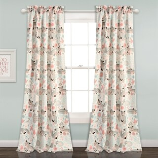 Lush Decor Pixie Fox 84-inch Room Darkening Window Curtain Panel Set
